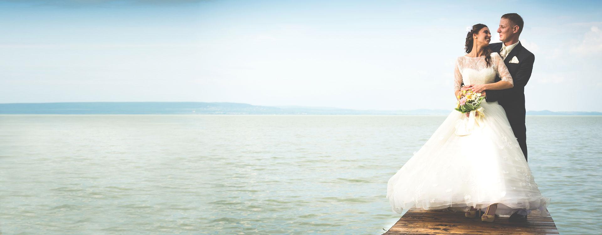 Esküvői, kreatív, beállított fotózás - Balaton